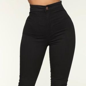 Fashion nova luxe ultra high waist black jeans